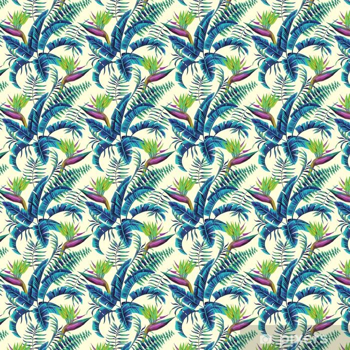 Tapeta na wymiar winylowa Tropikalny egzotyczny wzór -