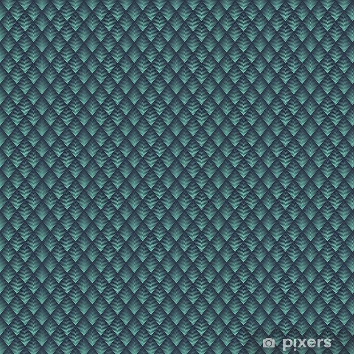 Vinyl behang, op maat gemaakt Naadloze neon blauw op art ruitvormige chevron mix patroon vector - Grafische Bronnen