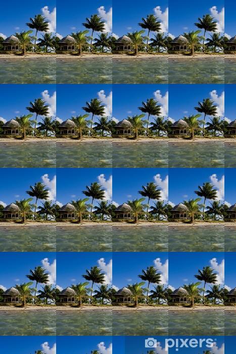 Papel pintado estándar a medida Vista de una pequeña isla de Samoa en el agua - Vacaciones