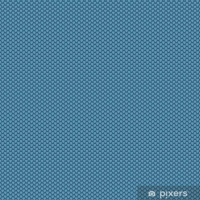 Vinyl behang, op maat gemaakt Minimalistische blauwe schaal patroon - Grafische Bronnen