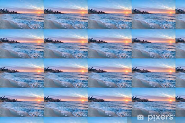 Vinyl behang, op maat gemaakt Prachtige zonsondergang in La Jolla, Californië - Amerikaanse steden