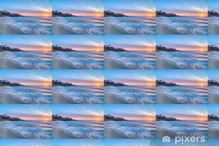 Magnificent sunset in La Jolla California Vinyl custom-made wallpaper - American Cities