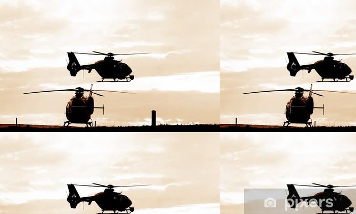 Vinylová Tapeta Vrtulník - Těžký průmysl