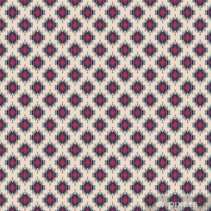 Vector seamless decorative ethnic pattern  American indian motifs   Background with aztec tribal ornament  Wallpaper - Vinyl custom-made