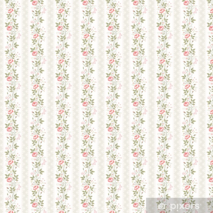 Sin patrón, con bordes de encaje floral y mariposas