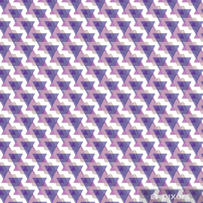 Vinyl behang, op maat gemaakt Naadloze driehoek patroon achtergrond geometrische abstracte textuur - Grafische Bronnen
