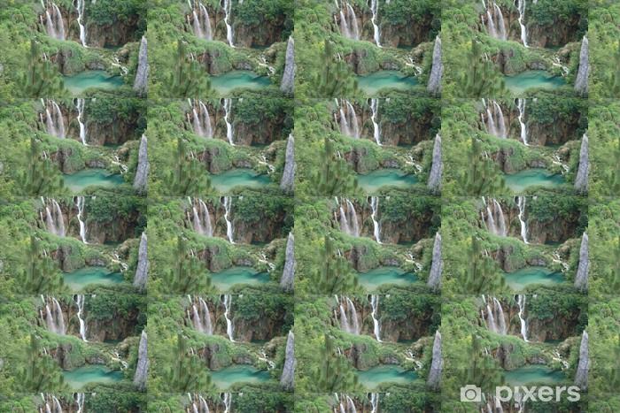 Papier peint vinyle sur mesure Parc de Plitvice cascade Rivière la Korana lac Croatie - Vacances