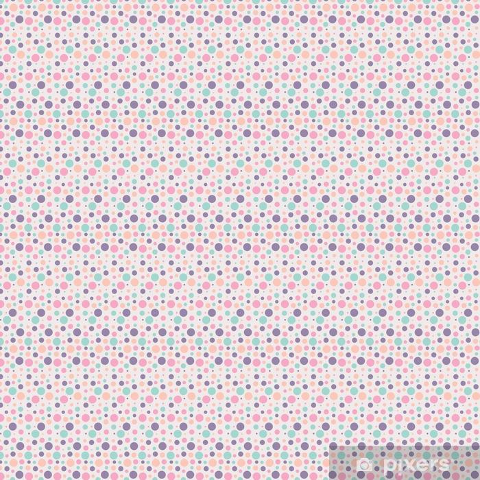 Vinyl behang, op maat gemaakt Naadloze stippen patroon - Grafische Bronnen