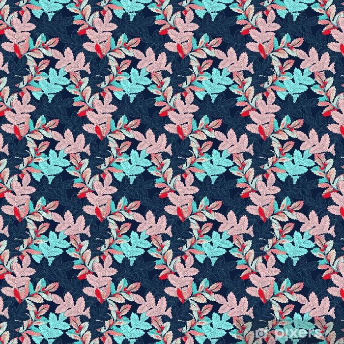 Zelfklevend behang, op maat gemaakt Branch naadloze patroon - Bloemen en Planten