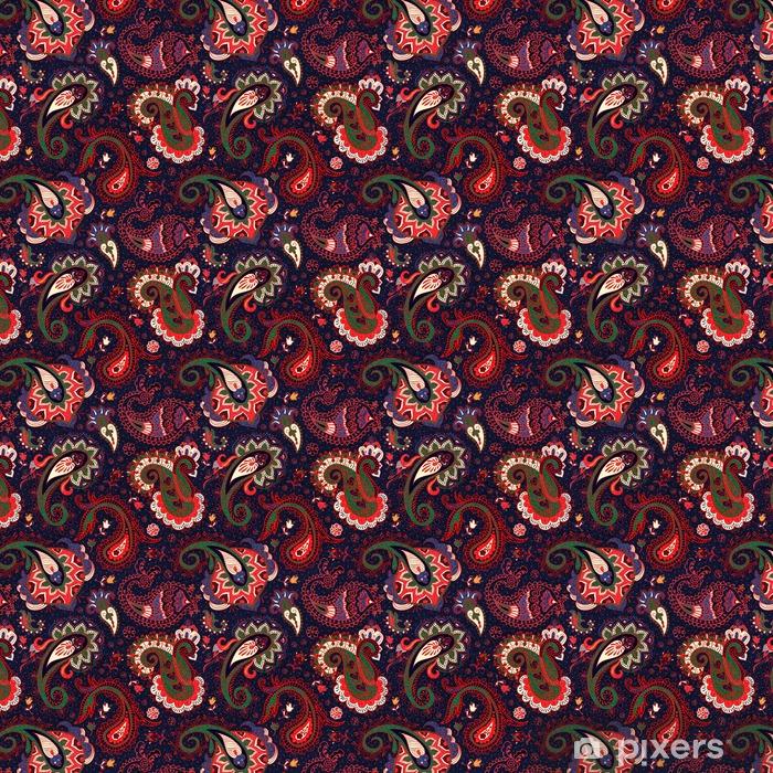 Özel Boyutlu Vinil Duvar Kağıdı Vektör Dikişsiz Paisley Pattern - Grafik kaynakları