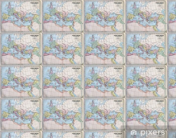 Map Of The Roman Empire Wallpaper Vinyl Custom Made