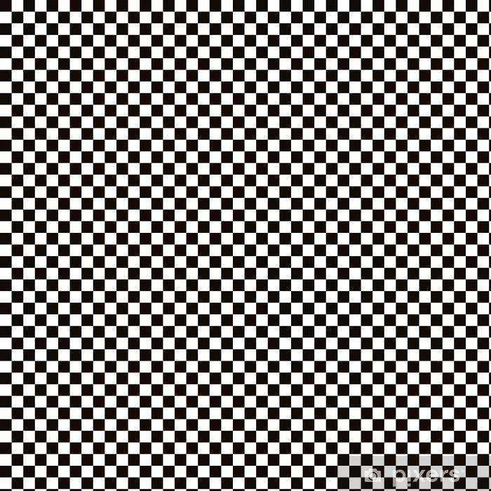Papier peint vinyle sur mesure Échiquier noir avec fond élégant blanc - Ressources graphiques