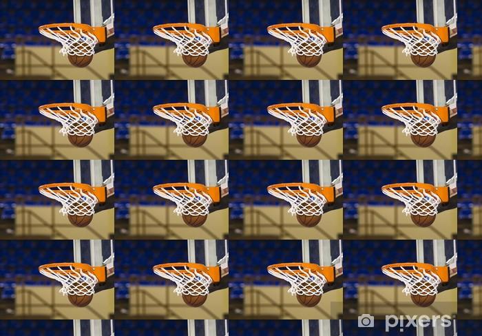 Papier peint vinyle sur mesure Balle dans le cerceau - Basket-Ball