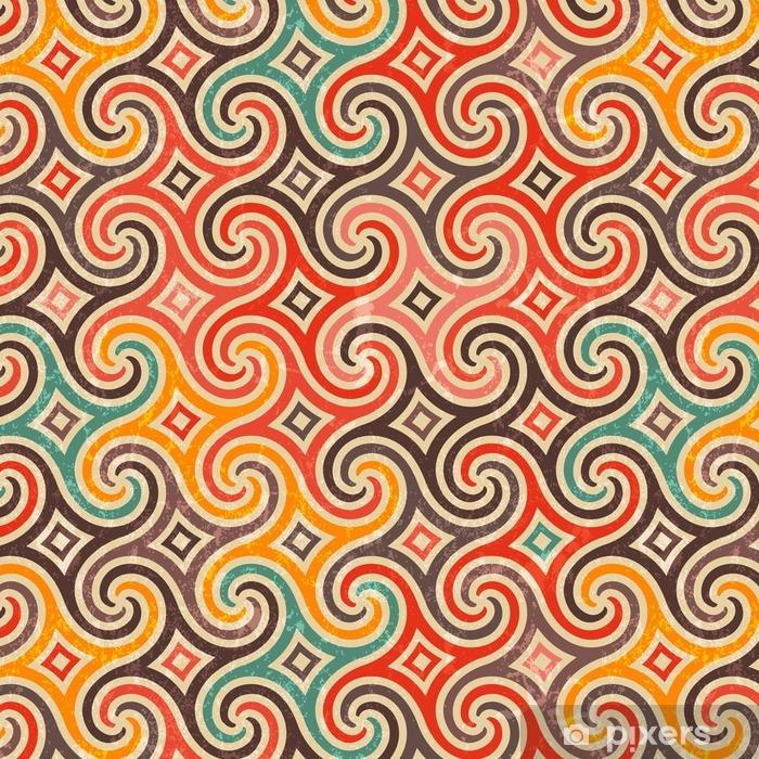 Vinil Duvar Kağıdı Swirls retro desen. - Grafik kaynakları