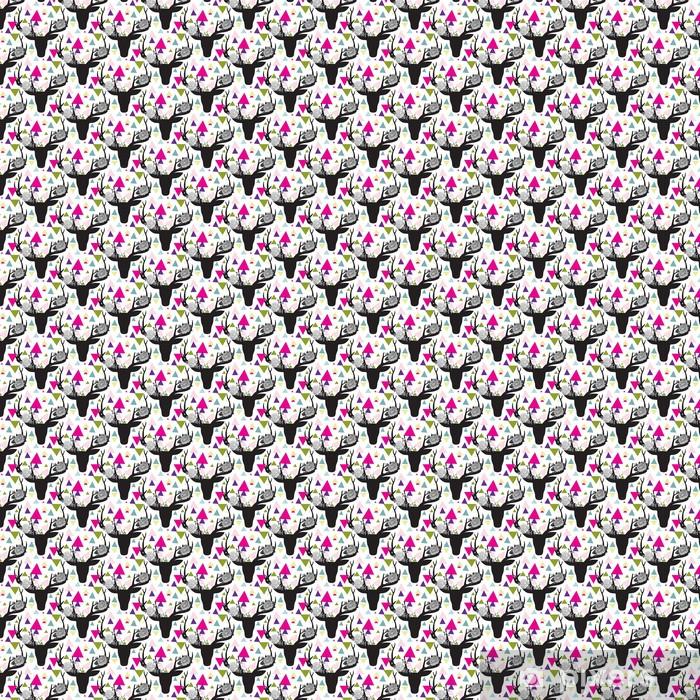 Vinyl behang, op maat gemaakt Hipster naadloze patroon met driehoek, herten hoorns -