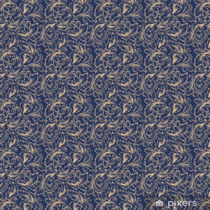 Vinyl behang, op maat gemaakt Vector naadloze patroon in barokstijl. vintage achtergrond voor uitnodiging, stoffen - Grafische Bronnen
