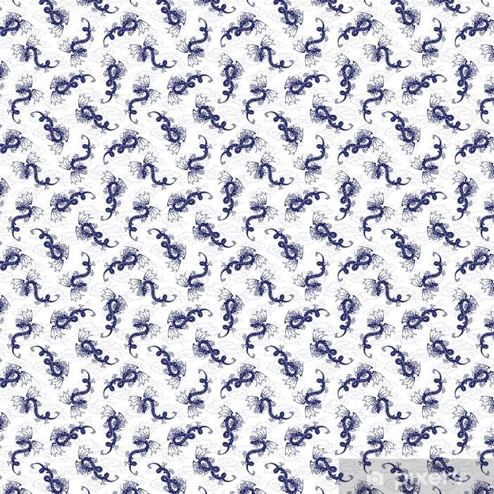 Tapeta na wymiar winylowa ド ラ ゴ ン の パ タ ー ン - Zwierzęta