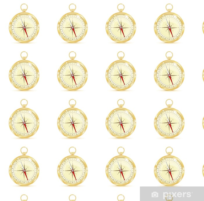 Papier peint vinyle sur mesure Boussole avec rose des vents. golden compass Vintage. - Objets et accessoires
