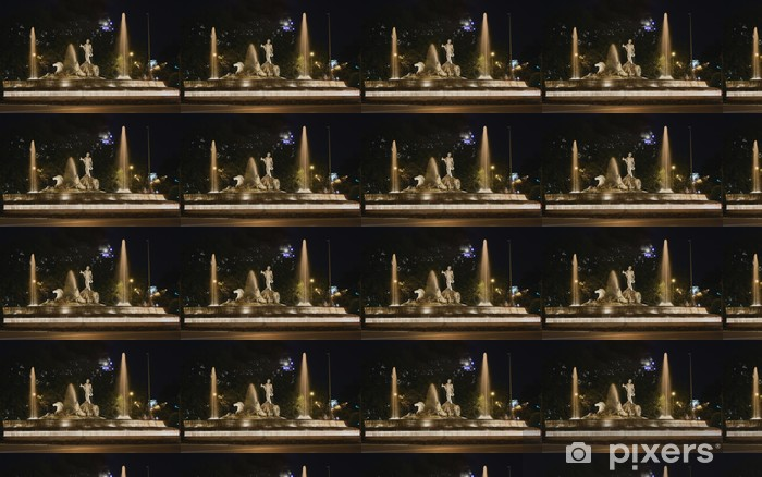 Tapeta na wymiar winylowa Nocny widok Fontanna Neptuna - Wakacje