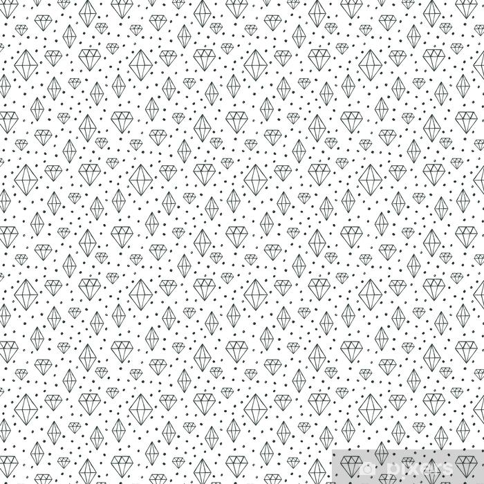 Tapeta na wymiar winylowa Wektor wzór z ręcznie rysowane akwarela diament kryształ - Zasoby graficzne