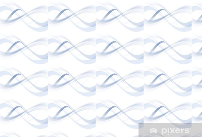 trame de fond de page bleu - blue decoration curve Vinyl custom-made wallpaper - Abstract
