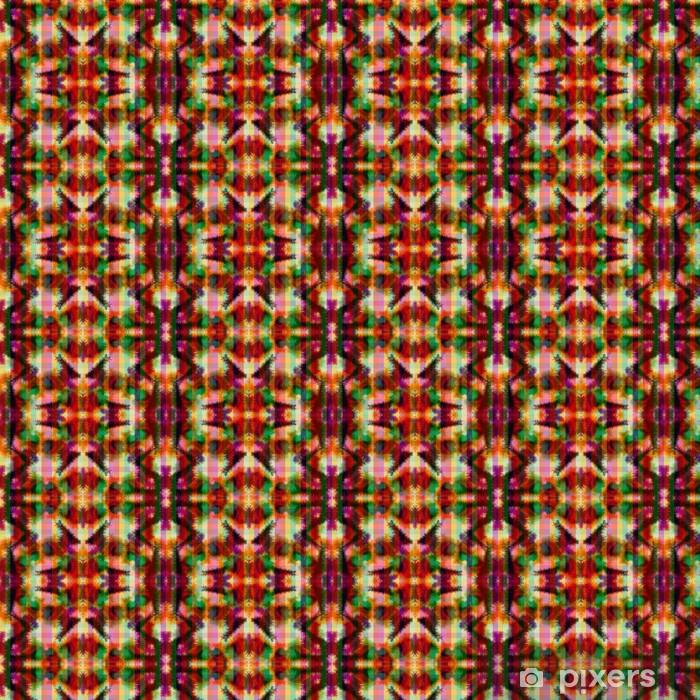 Seamless pattern hippie abstract tie dye rorschach Vinyl Custom-made Wallpaper - Backgrounds