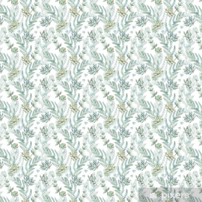 Papier peint vinyle sur mesure Floral seamless pattern. s - Plantes et fleurs