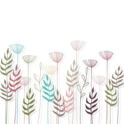 Adesivo da Parete Floral background