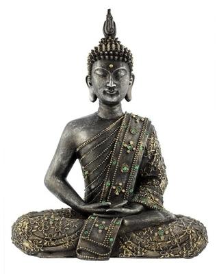 Wandtattoo Bouddha statue de bronze zen