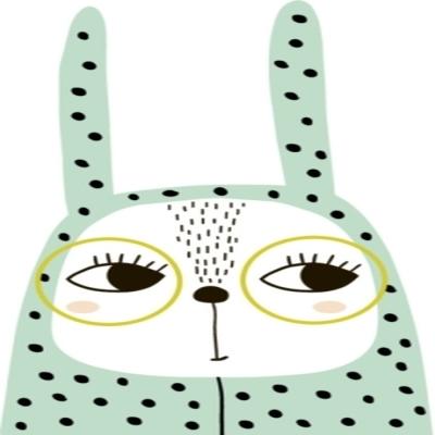 d903199c Veggklistremerke Søt kaninpike i romper og briller. barnslig utskrift for  t-skjorte, klær