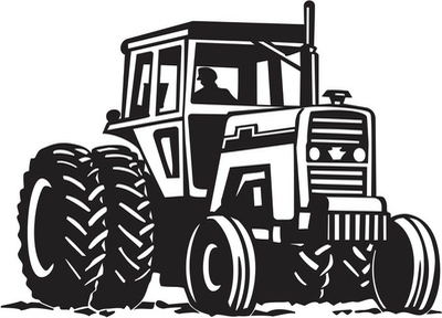Tractor Vinyl Ready Vector Illustration