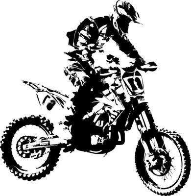 Veggklistremerke Mx rytter