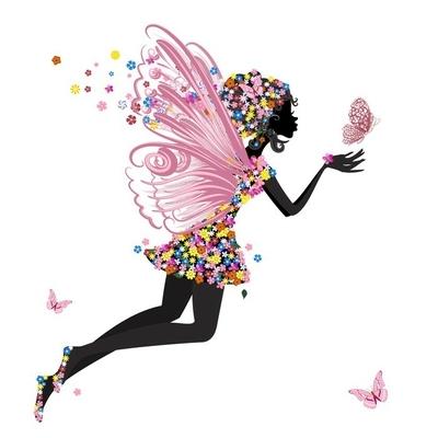 Naklejka na ścianę Flower Fairy z Motyl