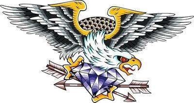 Ørn klassiske emblem Vægklistermærke