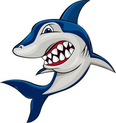 Sticker mural Requin en colère