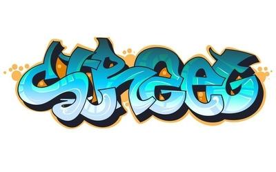 Veggklistremerke Graffiti urbane kunst