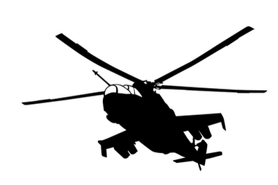 Mi-24 (Hind) helikopter silhuet Vægklistermærke