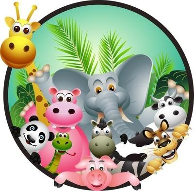animal cartoon Wall Decal