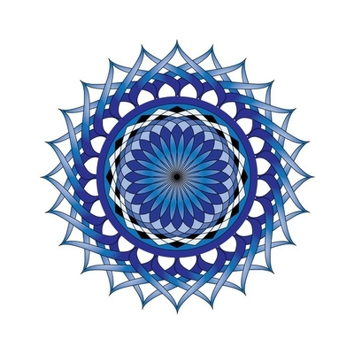 Sticker mural Lotus bleu Mandala