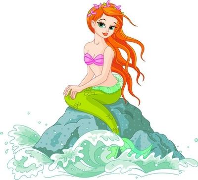 Wandtattoo Schöne Meerjungfrau