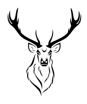 Deer isolated Wall Decal