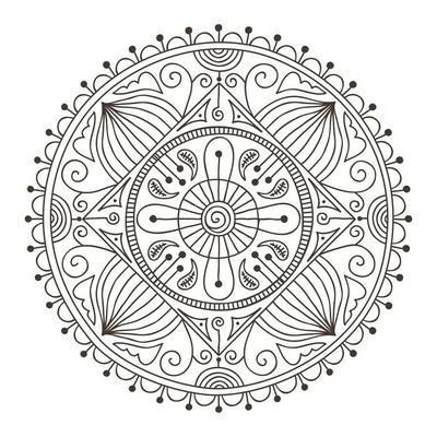 Sticker mural Doodle mandala