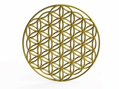 Decalque de Parede Sacral Symbol Flower of Life in 3D