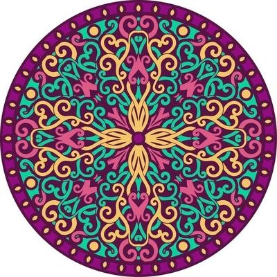 Mandala Vægklistermærke
