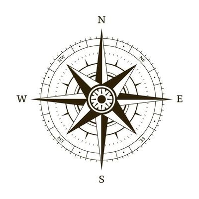 Wandtattoo kompass pixers wir leben um zu ver ndern - Wandtattoo kompass ...
