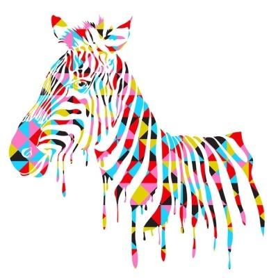Muursticker Abstract zebra - vector illustratie