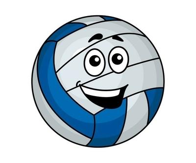 Muursticker Cartoon volleyballbal