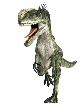 Veggklistremerke Monolophosaurus gange