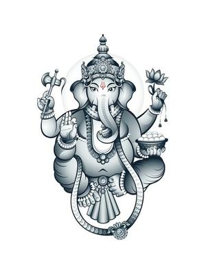Indian elephant-head God Ganesha Wall Decal
