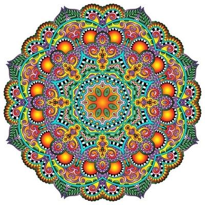 Naklejka na ścianę Ornament koronki koło, okrągły wzór dekoracyjny geometryczny serwetka